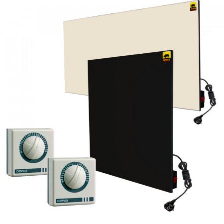 Набор №14 с ручным управлением + терморегуляторы (для 1-комнатной квартиры без утепления *)