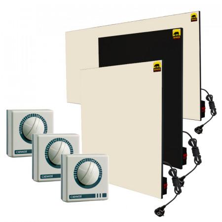 Набор №16 с ручным управлением + терморегуляторы (для 2-комнатной квартиры без утепления *)