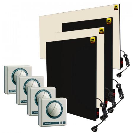 Набор №18 с ручным управлением + терморегуляторы (для 3-комнатной квартиры без утепления *)