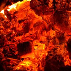 Принт квадратный, серия Пламя, 003