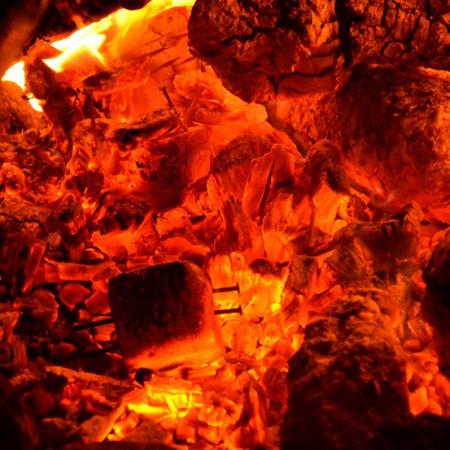 Принт квадратный, серия Пламя, 003• Керамические обогреватели AFRICA (Африка)