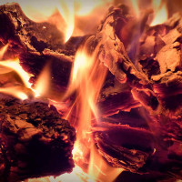 Принт квадратный, серия Пламя, 10204