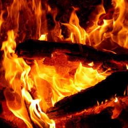 Принт квадратный, серия Пламя, 008