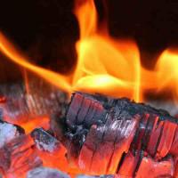 Принт квадратный, серия Пламя, 012