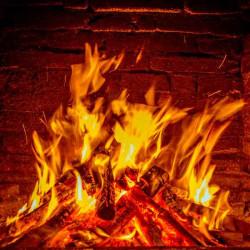 Принт квадратный, серия Пламя, 013