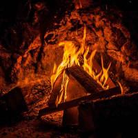Принт квадратный, серия Пламя, 015