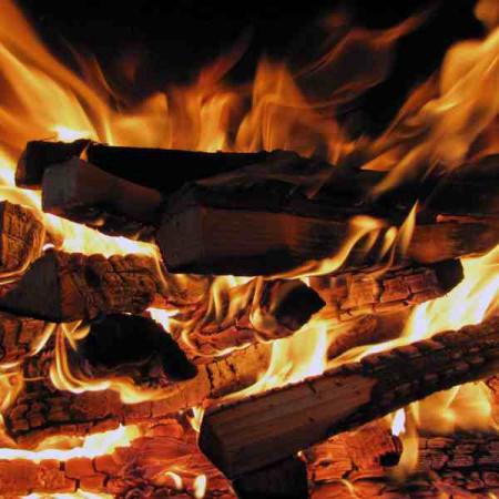 Принт квадратный, серия Пламя, 022