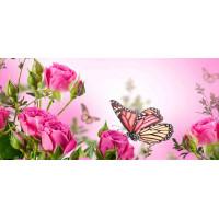 Принт прямоугольный, серия Цветы, 049