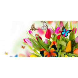 Принт прямоугольный, серия Цветы, 053