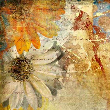 Принт квадратный, серия Цветы, 068