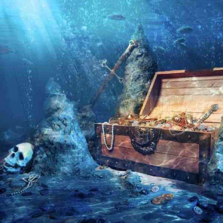 Принт квадратный, серия Море, 016